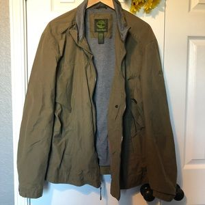 Timberland Men's Army Green Zip Up Utility Jacket